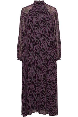 Bruuns Bazaar Kvinna Midiklänningar - Grace Rosanna Dress Knälång Klänning Lila