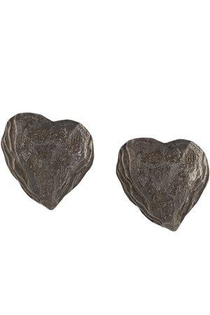 Yves Saint Laurent Hjärtformade örhängen med struktur