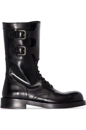 Dolce & Gabbana Militärkängor i läder