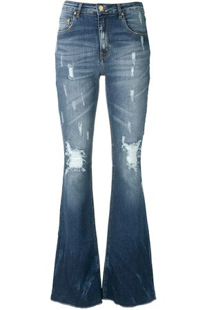 AMAPÔ Maine flared denim trousers