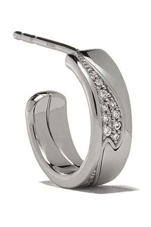 Georg Jensen Fusion diamantörhängen i 18K vitguld