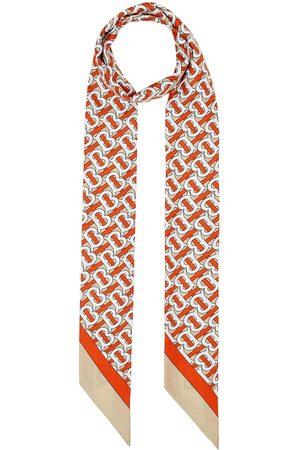 Burberry Sjalar - Monogram logo skinny scarf