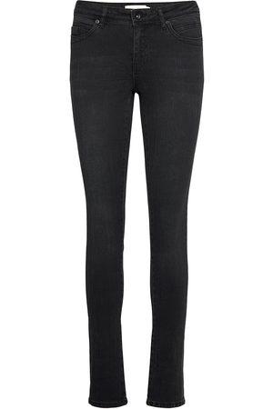 Rabens Saloner Kvinna Skinny - Washed Black Denim Skinny Jeans Rabens Sal R