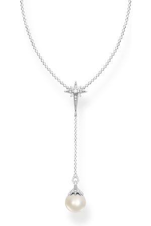 Thomas Sabo Kvinna Halsband - Halsband pärla stjärna silver