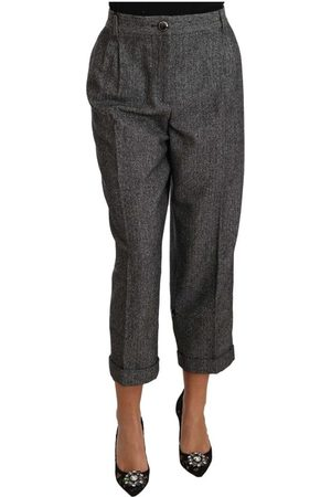 Dolce & Gabbana Wool Pleated Cropped Pants