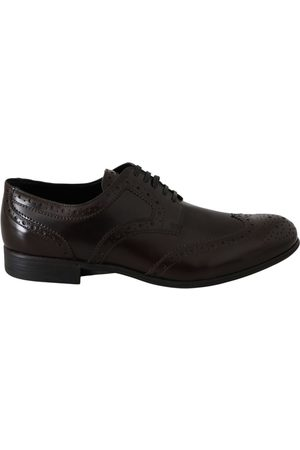 Dolce & Gabbana Leather Broques Oxford Wingtip Shoes