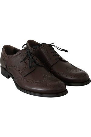 Dolce & Gabbana Leather Brogue Derby Dress Shoes