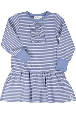 Geggamoja Barn Klänningar - Rosettklänning Infinity blue str 50/56