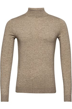 Only & Sons Man Stickade tröjor - Onsmikkel 12 Soft High Neck Knit Noos Knitwear Turtlenecks Grå