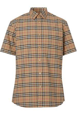 Burberry Rutig kortärmad skjorta