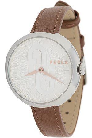 Furla Bubble leather strap watch