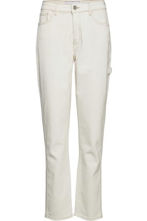 Tomorrow Kvinna Straight - Lincoln Worker Pant Ecru Raka Jeans Creme
