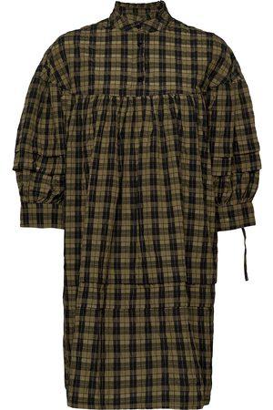 Vero Moda Kvinna Festklänningar - Vmjosefine3/4 Short Checked Dress Fx Kort Klänning