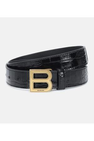 Balenciaga Kvinna Bälten - Hourglass croc-effect leather belt