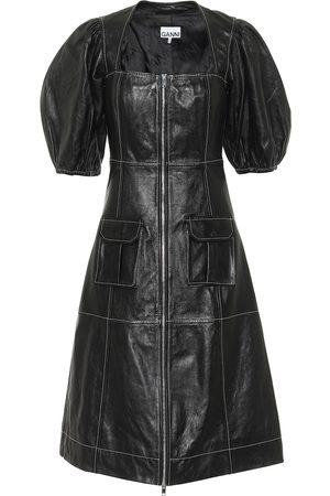 Ganni Leather midi dress