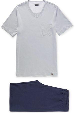 Hanro Man Pyjamas - Night and Day Cotton-Jersey Pyjama Set