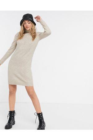 Pimkie – stickad klänning med polokrage