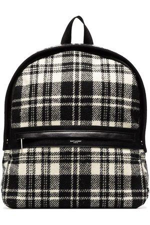 Saint Laurent Man Ryggsäckar - Camp check-pattern backpack