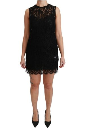 Dolce & Gabbana Sleeveless Lace Cotton Mini Dress