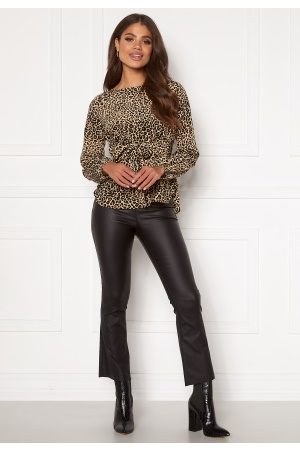 Object Kvinna Leggings - Belle Coated New Leggings Black L