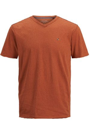 Jack & Jones V-ringad T-shirt Man Orange