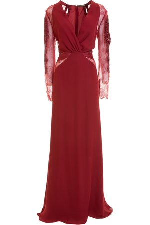 Roberto Cavalli Long dress with embroidery