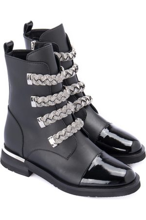 BALDININI Ankle boot with applications