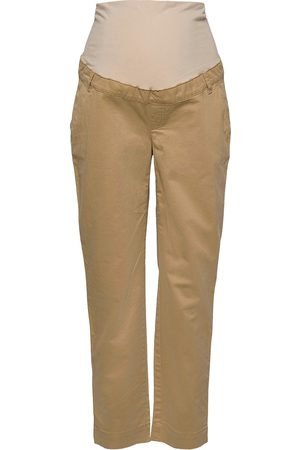 GAP Maternity Full Panel Khaki Straight Jeans Mom Jeans Brun