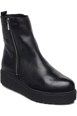 Wonders Warm Lamb Fur Lining A-9508-M Shoes Boots Ankle Boots Ankle Boot - Flat
