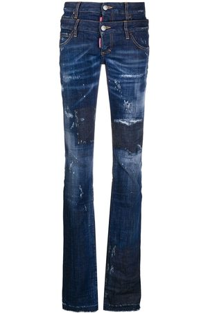 Dsquared2 Smala jeans med dubbel midja