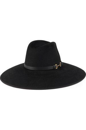 Gucci Felt wide brim hat with Horsebit