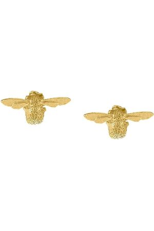 Alex Monroe 18kt yellow gold Teeny Weeny Bee stud earrings