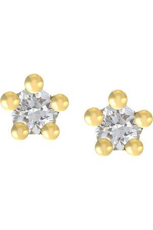 Alex Monroe 18kt yellow gold Beekeeper diamond studs