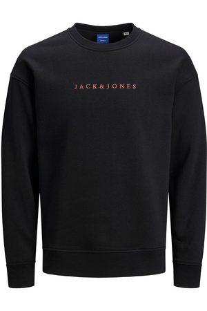 Jack & Jones Man Sweatshirts - Logotypförsedd Rundringad Sweatshirt Man Svart