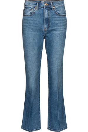 Tory Burch Mid-rise cropped jeans
