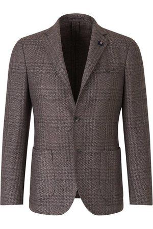 LARDINI Man Kavajer - Checked Wool Blazer