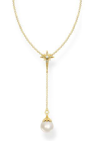 Thomas Sabo Kvinna Halsband - Halsband pärla stjärna guld