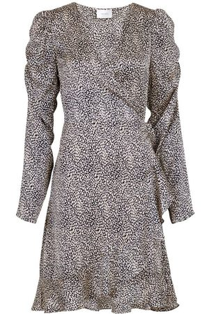 Neo Noir Brandy Stone Print Dress