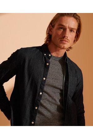 Superdry Man Jeans - Klassisk denimskjorta med buttondownkrage