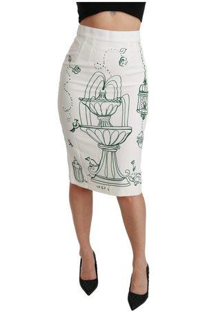 Dolce & Gabbana Fairy Tale Print Stretch Skirt