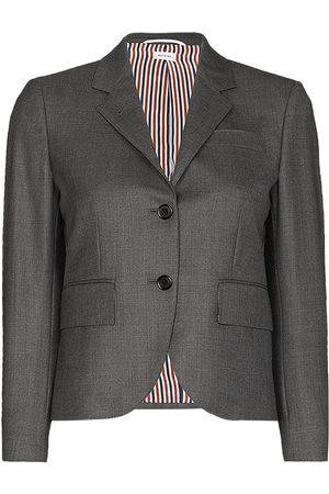 Thom Browne Klassisk enkelknäppt sportjacka i Super 120-twill