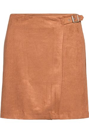 Banana Republic Vegan Suede Wrap Mini Skirt Kort Kjol