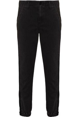 Paige Kvinna Jeans - Mayslie velvet-stripe tapered jeans