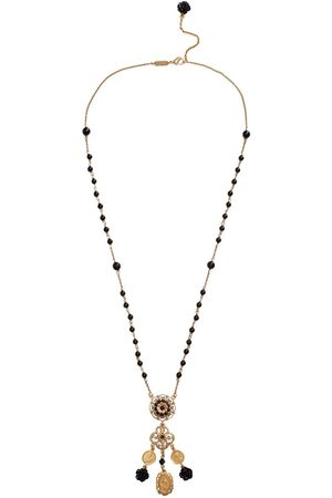 Dolce & Gabbana Filigree pendant rosary bead necklace