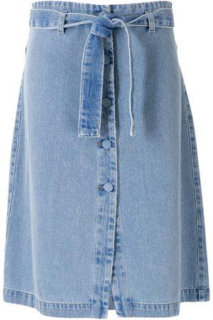 AMAPÔ Kvinna Jeanskjolar - Cora Botonê jeansshorts