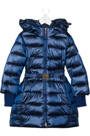 MONNALISA Long Shiny Down Jacket