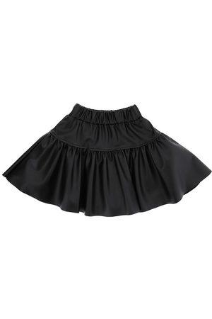 MONNALISA Faux Leather Skirt