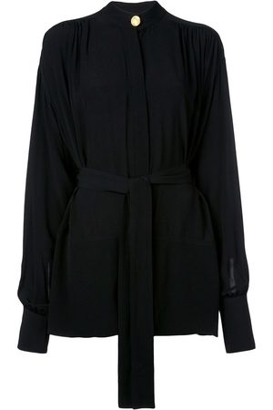 Proenza Schouler Long Sleeve TIE TOP