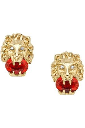Gucci Stiftörhängen i 18K gult guld med lejonhuvud