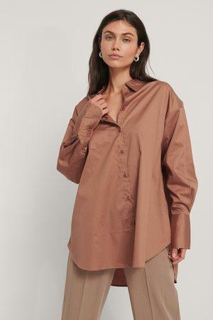 NA-KD Recycled Oversize Skjorta Med Ficka
